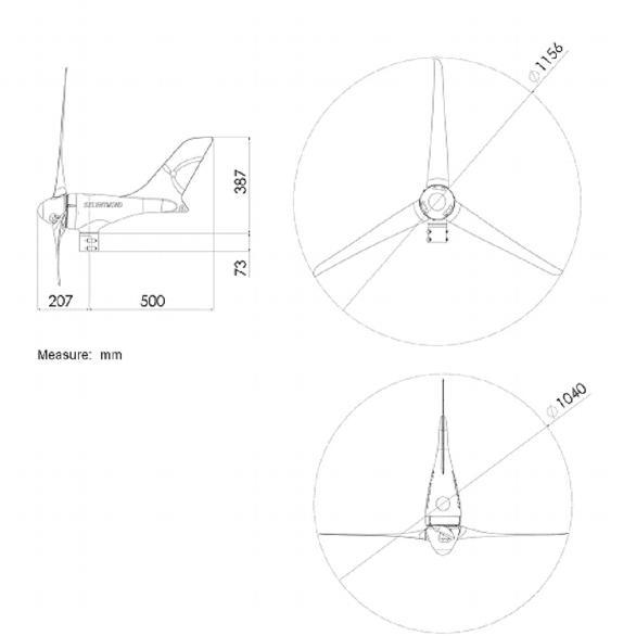 Silentwind Pro 48V Windgenerator mit Hybrid-Laderegler