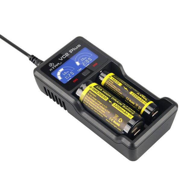 VC2 Plus - USB-Ladegerät für Li- und NiMH-Akkus