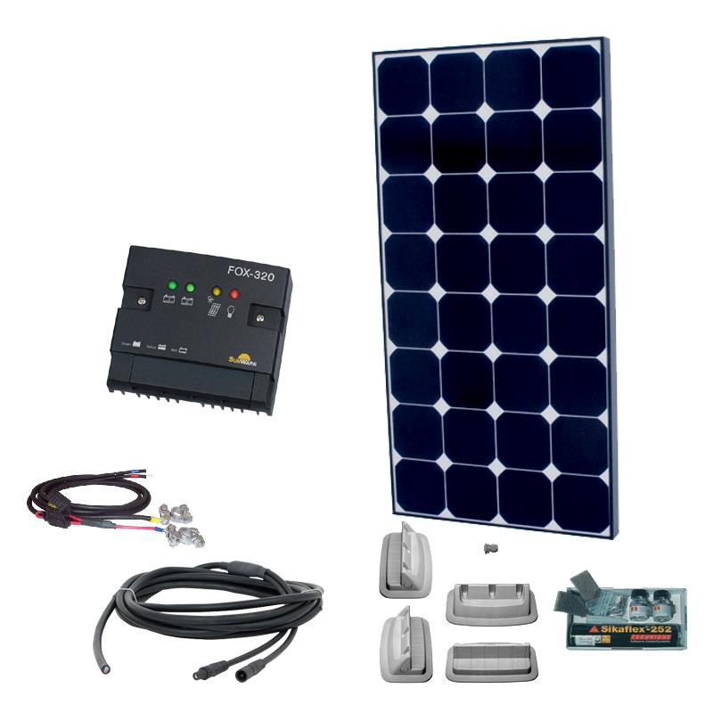 Caravan Solaranlage 12V, 100Wp mit Morningstar SunSaver Duo