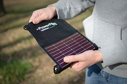 LightSaver V1 - rollbares Solarmodul mit USB Powerbank