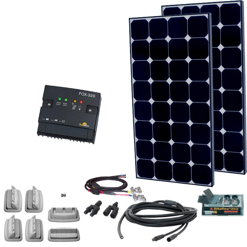 Caravan Solaranlage 12V, 200Wp
