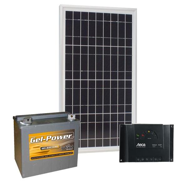 Solar Inselanlage 12V / 20Wp / 30Ah