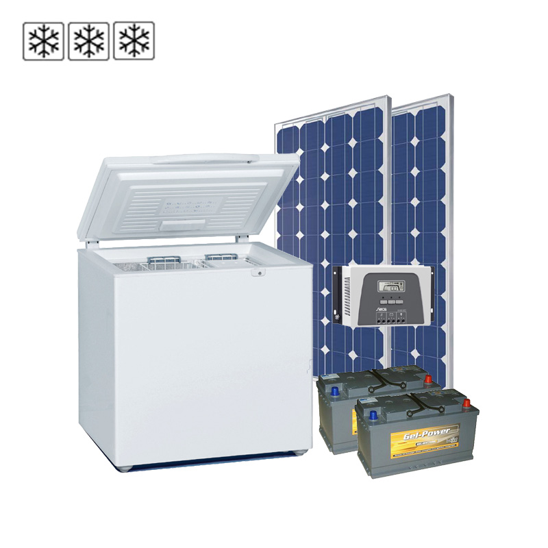 Solar-Tiefkühlsystem 24V / 200Wp / 95Ah, EEK: A+++