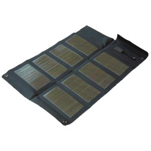 Minigorilla + faltbares Solarmodul 12Wp Tablet-Solarladegerät