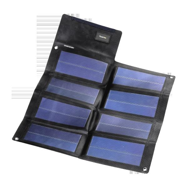 Powertec PT12 faltbares Solarmodul 12Wp mit 12V und USB