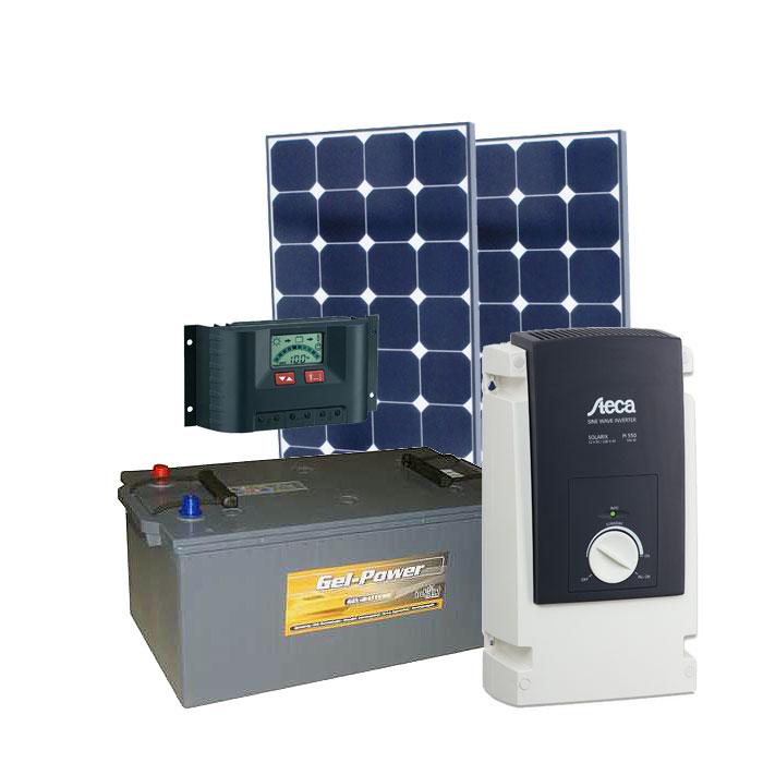 Solar Inselanlage AC 500W / 220Wp / 210Ah
