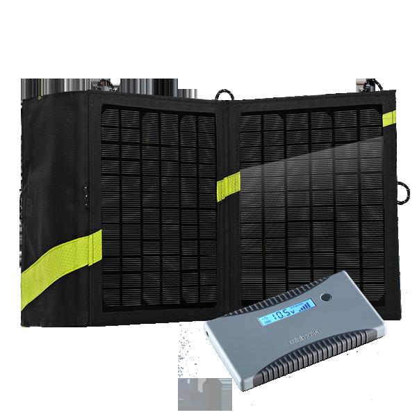 Minigorilla + Nomad 13 Trekking Solarladegerät