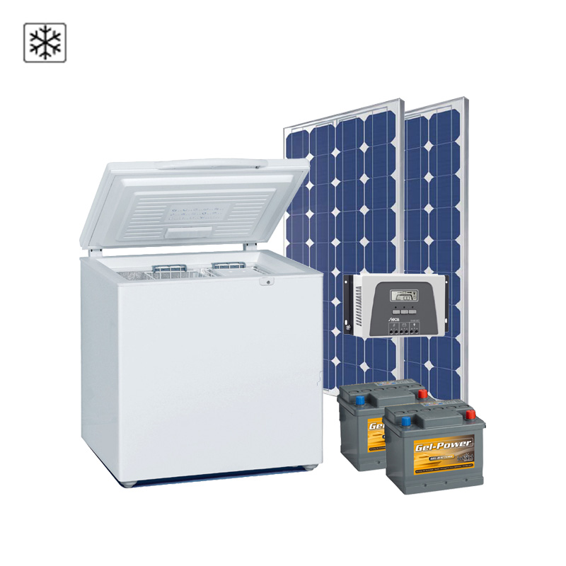 Solar-Kühlsystem 24V / 100Wp / 45Ah, EEK: A+++