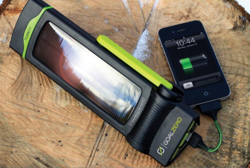 TORCH 250 LED-Leuchte mit Handkurbel, USB und Solar