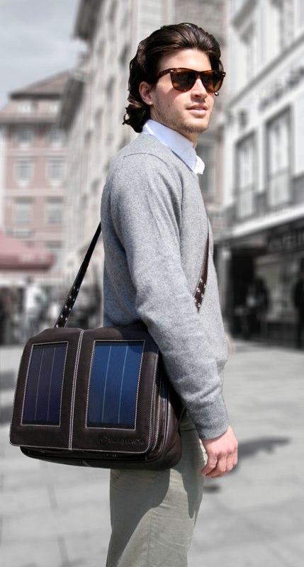 SunnyBag Business Pro 15 Solartasche braun