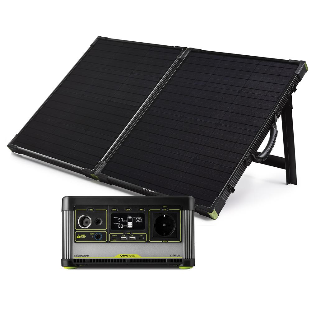 Yeti 500X Solar Kit mit Boulder 100 Briefcase