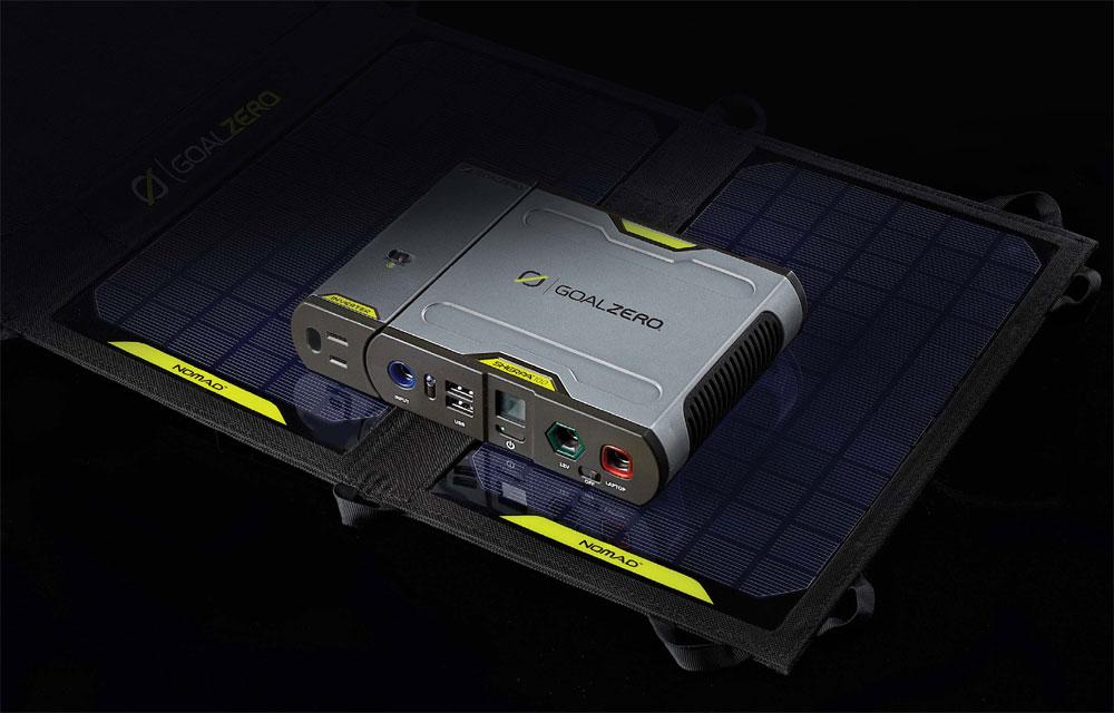 Sherpa 100 Solar Kit mit 220V Inverter und Nomad 20 Solarmodul