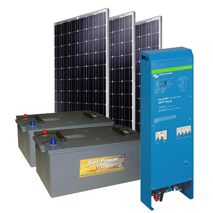 Solar Inselanlage AC 1.6kW / 600Wp / 210Ah