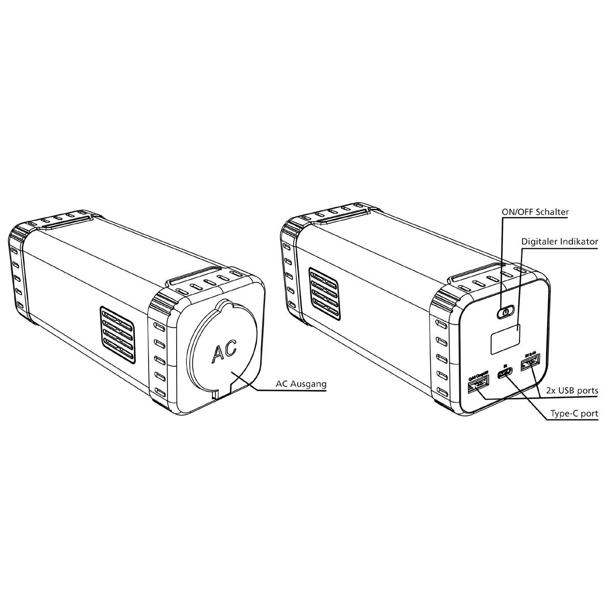 Polaroid PS100 - mobile Steckdose