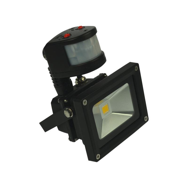 Multichip LED Flutlichtstrahler 10W ww, mit Bewegungsmelder, EEK: A
