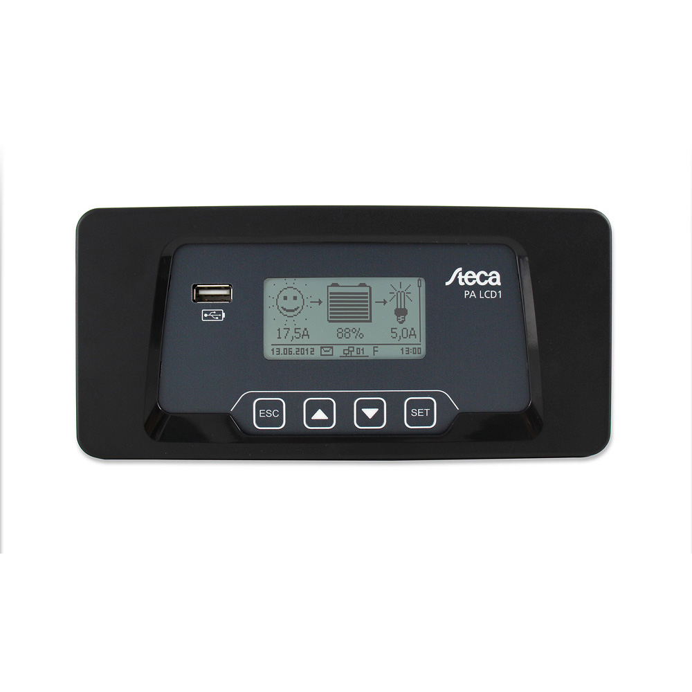 Steca Solarix 2020-x2 + Fernanzeige PA LCD1